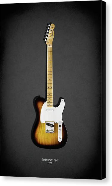 Stratocasters Canvas Print - Fender Telecaster 58 by Mark Rogan