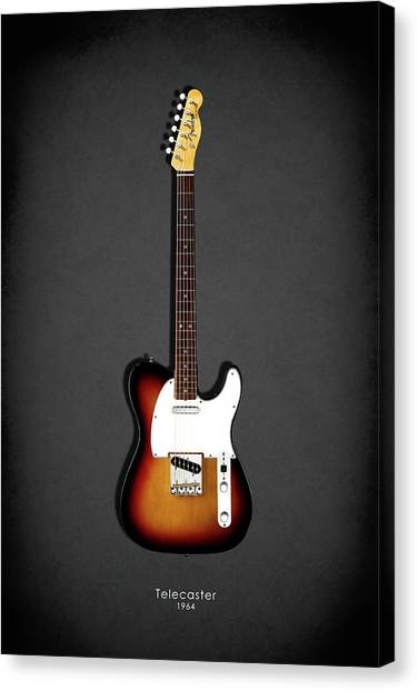 Music Canvas Print - Fender Telecaster 64 by Mark Rogan