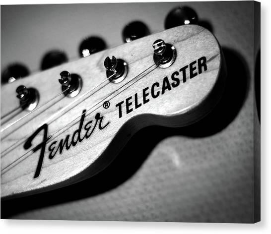 Fender Guitars Canvas Print - Fender Telecaster by Mark Rogan