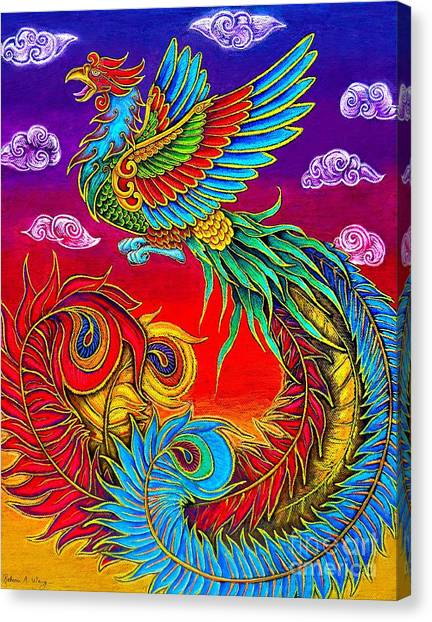 Fenghuang Chinese Phoenix Canvas Print