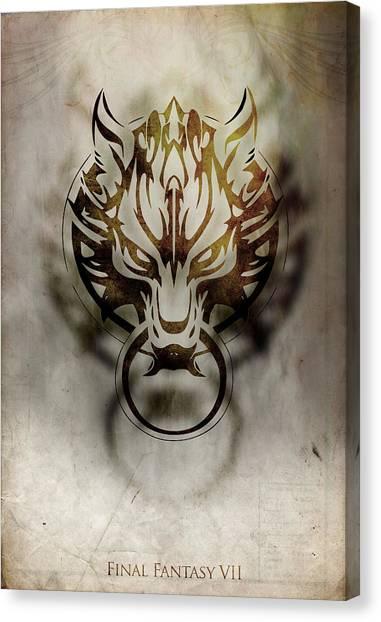 Final Fantasy Canvas Print - Fenrir by MCAshe