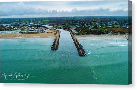 Fenway Beach Breakwater Canvas Print