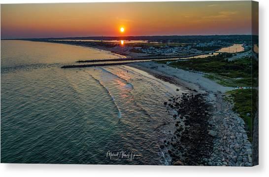 Fenway Beach Sunset Canvas Print
