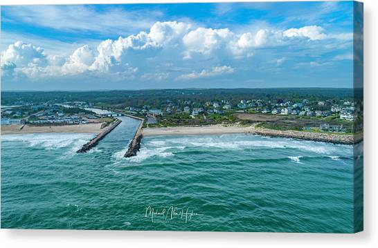 Fenway Beach, Weekapaug,ri Canvas Print