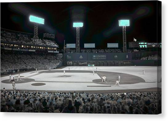 Fenway Canvas Print - Fenway Infrared by James Walsh