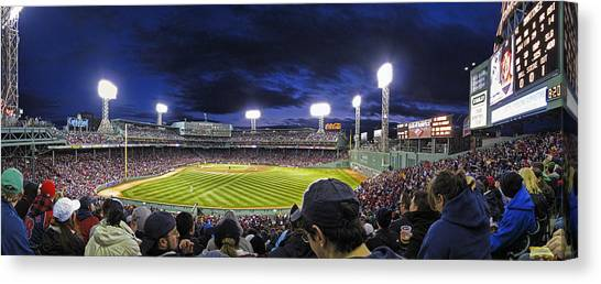 Boston Red Sox Canvas Print - Fenway Night by Rick Berk