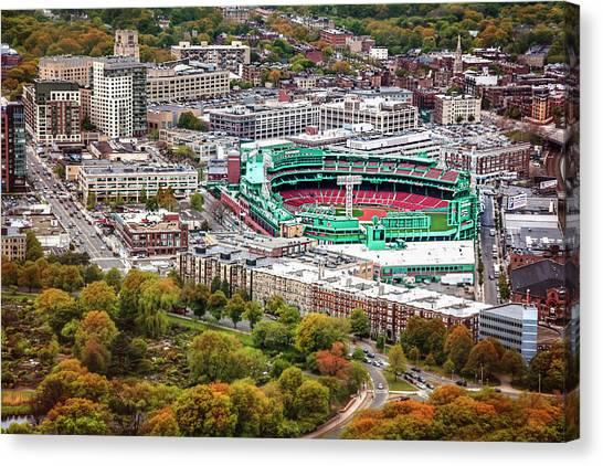 Boston Red Sox Canvas Print - Fenway Park  Boston Red Sox by Carol Japp