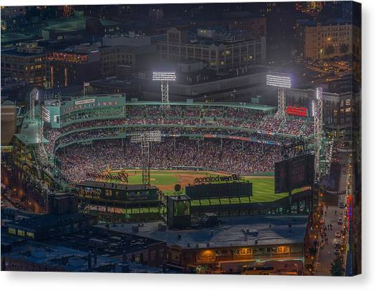 Babe Ruth Canvas Print - Fenway Park by Bryan Xavier