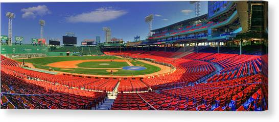 Fenway Park Interior Panoramic - Boston Canvas Print