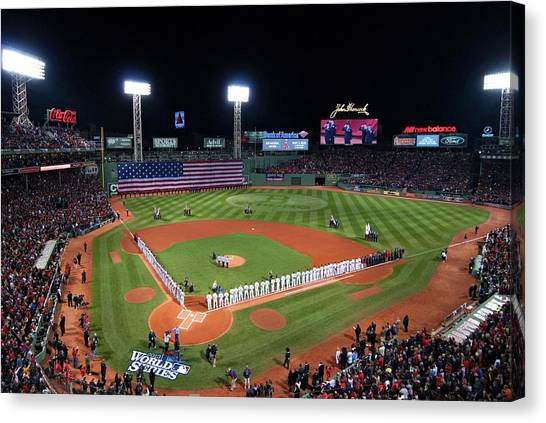 Fenway Canvas Print - Fenway Park World Series 2013 by Movie Poster Prints