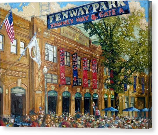 Baseball Canvas Print - Fenway Summer by Gregg Hinlicky