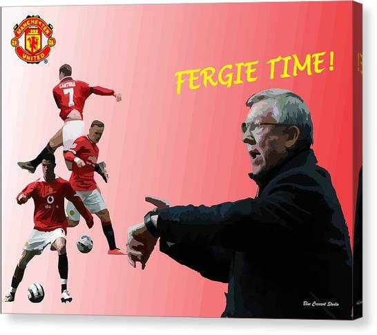 Wayne Rooney Canvas Print - Fergie Time by Blue Crescent Studio
