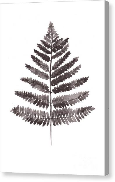 Botanical Canvas Print - Fern Leaf Watercolor Art Print by Joanna Szmerdt