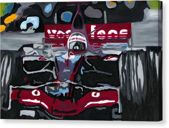 Fernando Alonso Wins Monaco For Mclaren 2008 Canvas Print
