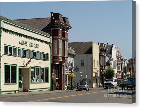 Grocery Store Canvas Print - Ferndale Humboldt County California Valley Grocery Dsc5453 by Wingsdomain Art and Photography