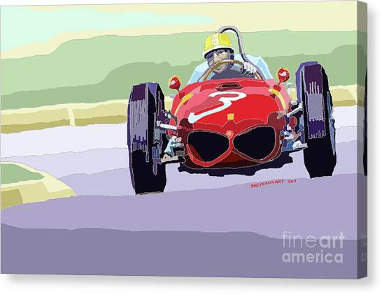 Ferrari Canvas Print - Ferrari 156 Dino 1962 Dutch Gp by Yuriy Shevchuk