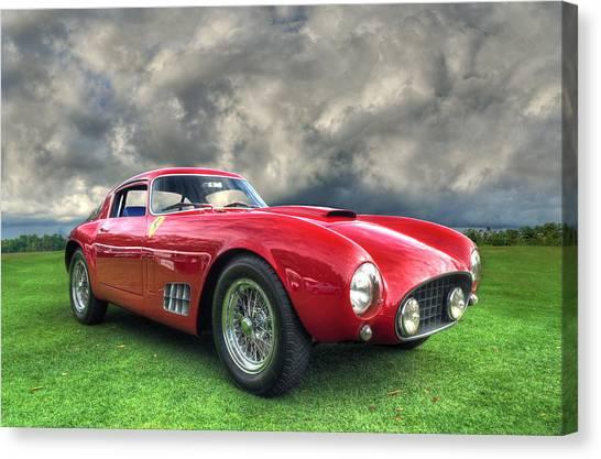 John Adams Canvas Print - Ferrari 1956 250 Gt Competizione Berlinetta by John Adams