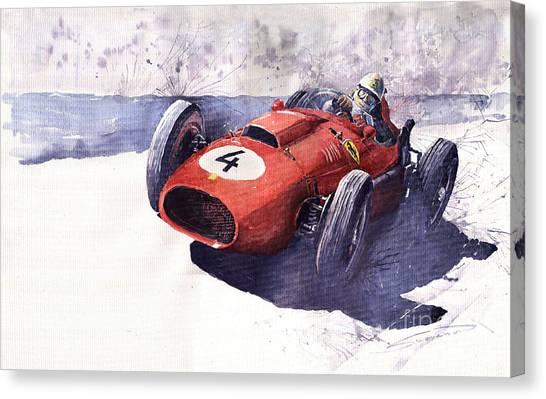 Ferrari Canvas Print - Ferrari 246 Mike Hawthorn by Yuriy Shevchuk