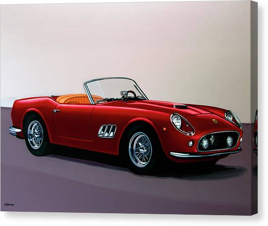 Ferrari 250 Gt California Spyder 1957 Painting Canvas Print