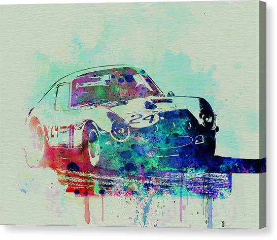 Ferrari Canvas Print - Ferrari 250 Gtb Racing by Naxart Studio