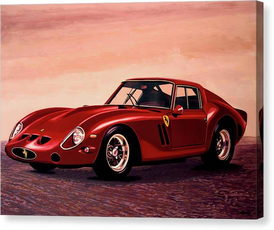 Ferrari Canvas Print - Ferrari 250 Gto 1962 Painting by Paul Meijering