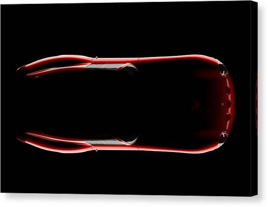 Ferrari 250 Gto - Top View Canvas Print