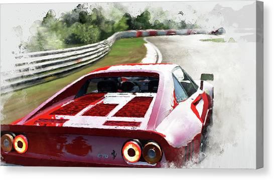 Ferrari 288 Gto - 32 Canvas Print by Andrea Mazzocchetti