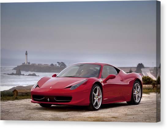 Canvas Print featuring the photograph Ferrari 458 Italia by ItzKirb Photography