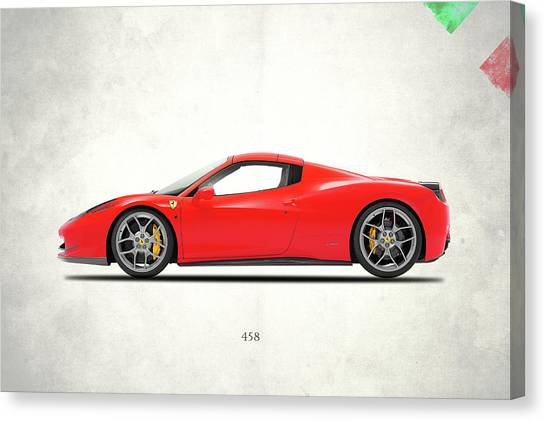 Iphone Case Canvas Print - Ferrari 458 Italia by Mark Rogan