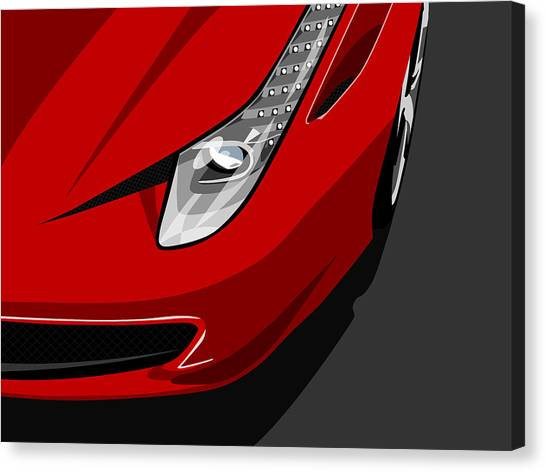 Ferrari 458 Italia Canvas Print by Michael Tompsett