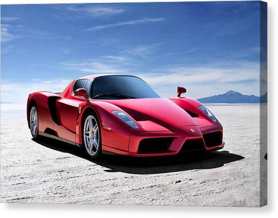Italian Canvas Print - Ferrari Enzo by Douglas Pittman