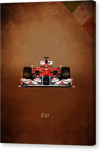 Formula 1 Canvas Print - Ferrari F10 by Mark Rogan