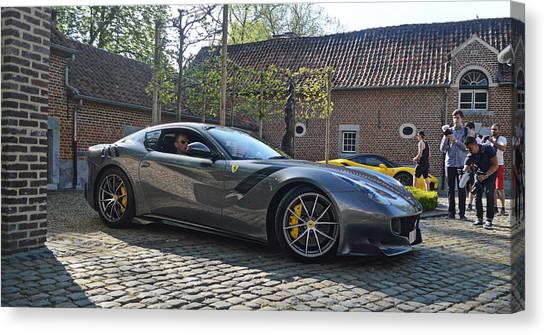 Tour De France Canvas Print - Ferrari F12 Tdf by Sportscars OfBelgium