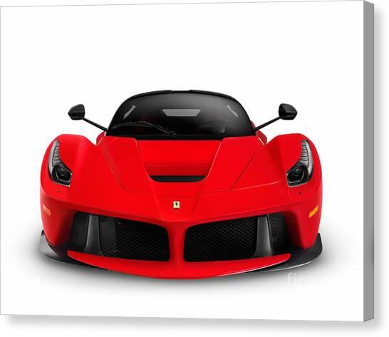 Ferrari Laferrari Supercar Canvas Print: Laferrari Canvas Prints