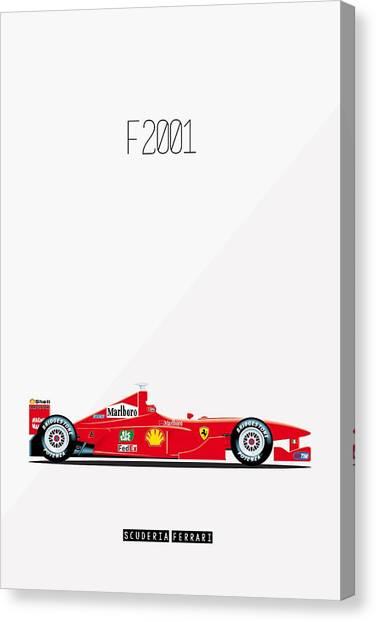 Ferrari F2001 F1 Poster Canvas Print