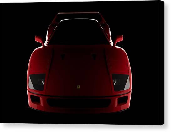 Ferrari F40 - Front View Canvas Print