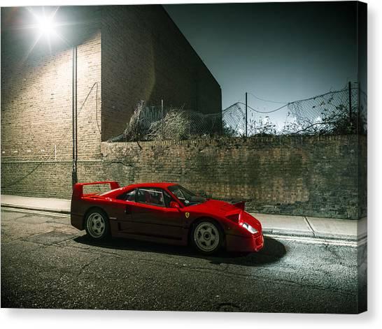 Ferrari F40 Lurking Canvas Print
