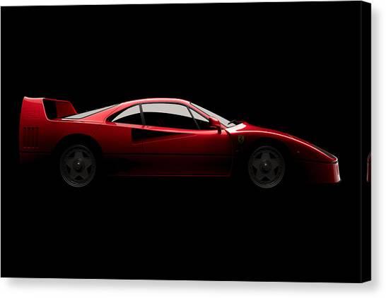 Ferrari F40 - Side View Canvas Print