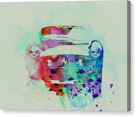 Ferrari Canvas Print - Ferrari Front Watercolor by Naxart Studio