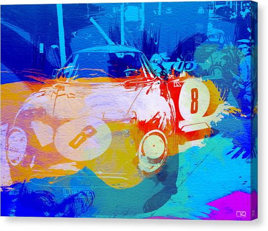 Ferrari Canvas Print - Ferrari Pit Stop by Naxart Studio