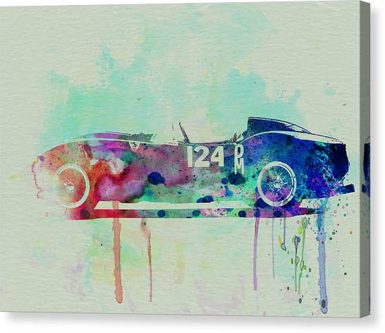 Ferrari Canvas Print - Ferrari Testa Rossa Watercolor 2 by Naxart Studio