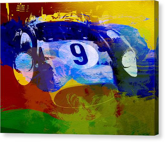 Grills Canvas Print - Ferrari Testarossa Watercolor by Naxart Studio