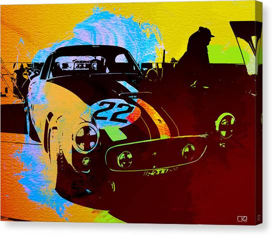 Grills Canvas Print - Ferrari Watercolor by Naxart Studio