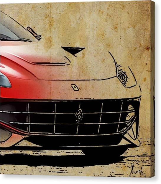 Ferrari Canvas Print - Ferrari  #ferrari #artprint by Drawspots Illustrations