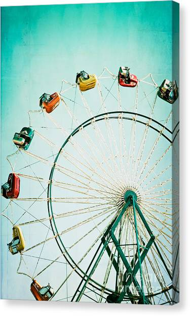 Fair Canvas Print - Ferris Wheel 2 by Kim Fearheiley