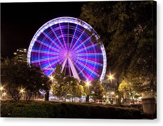 Ferris Wheel At Centennial Park 1 Canvas Print