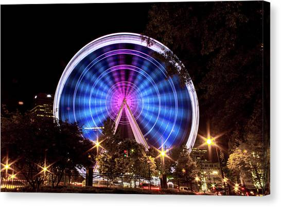 Ferris Wheel At Centennial Park 2 Canvas Print