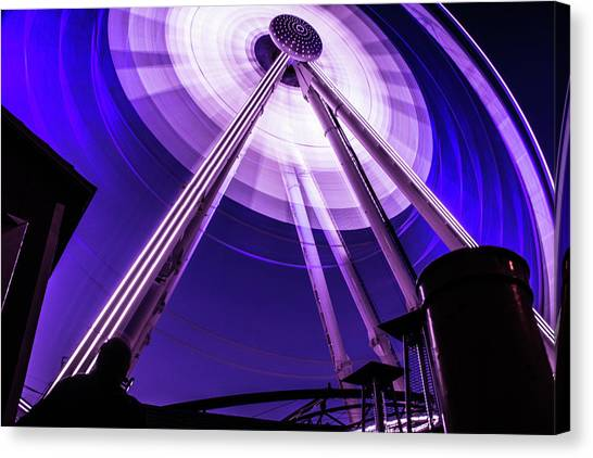 Ferris Wheel At Centennial Park 3 Canvas Print