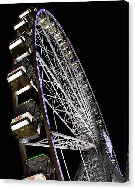 Ferris Wheel At Night 16x20 Canvas Print