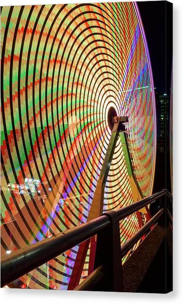 Canvas Print - Ferris Wheel  Closeup Night Long Exposure by David Gn